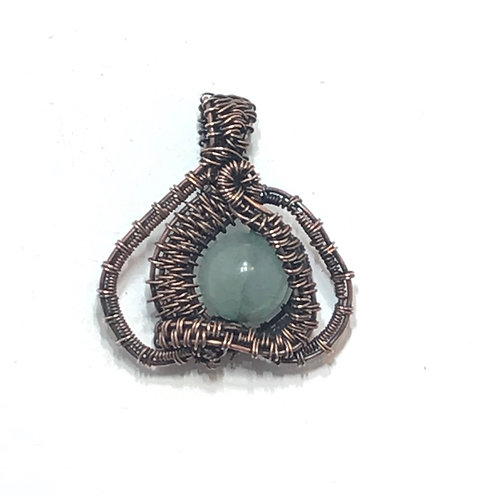 Light grey green aventurine