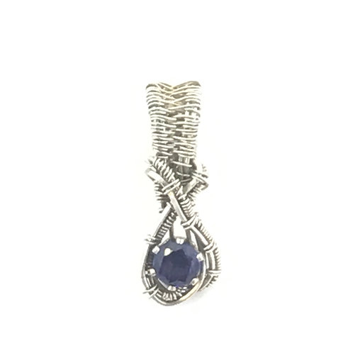 Amethyst faceted stone in Sterling Silver
