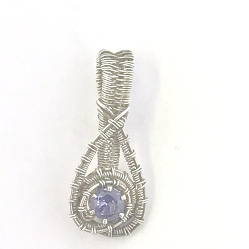 Alexandrite Faceted Stone in Sterling Silver