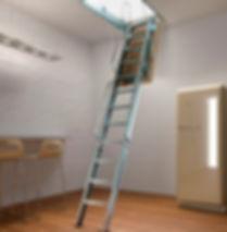 Раскладная чердачная лестница с люком