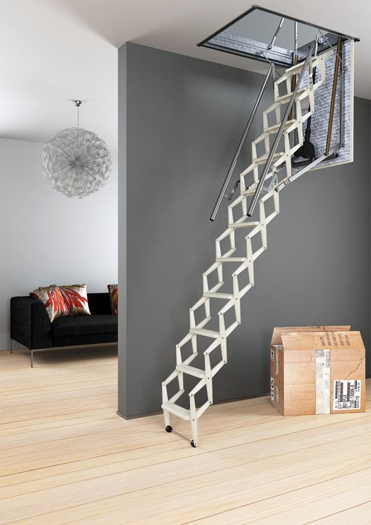 #автоматическая чердачная лестница Motora