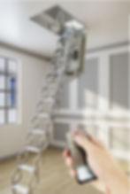 автоматическая чердачная лестница с электроприводом