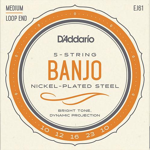 D'Addario Nickel Plated Steel Banjo