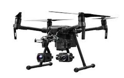 black-drone-white-background