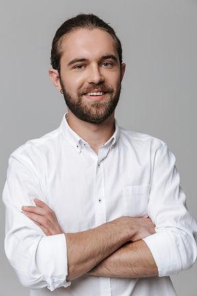 optimistic-positive-handsome-bearded-man