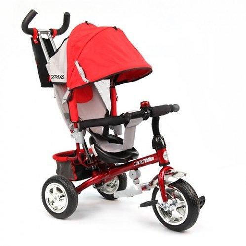 GT6385 LEXX TRIKE 3 колеса  пластиковые памперс рюкзак страх.ремень / красный