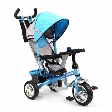 GT6389 LEXX TRIKE 3 колеса пластиковые памперс рюкзак страх.ремень / голубой