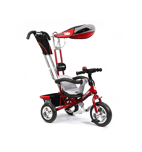 GT5544 LEXX TRIKE 3 колеса пластиковые памперс рюкзак страх.ремень / красный