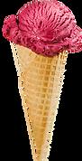 Raspberry Ice Cream Cone