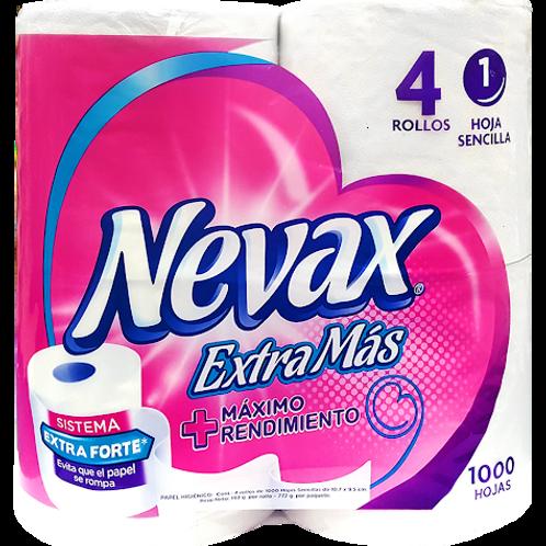 HIGIENICO NEVAX EXT 1000 HOJAS.4 UN