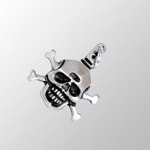 Skull and Crossbones Zipperpull or Pendant