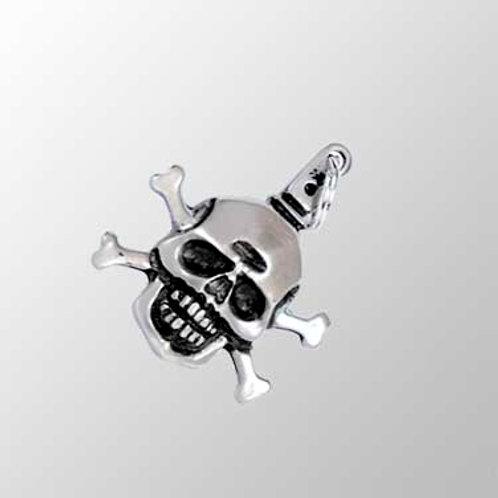 Skull and Crossbones Zipperpull or Pendant