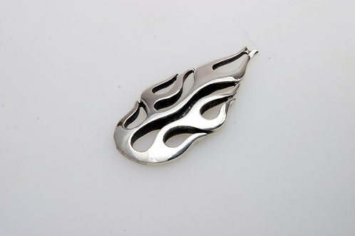 Flame Zipperpull or Pendant