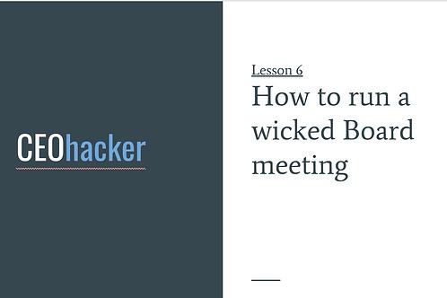 CEOhacker - Lesson 6 - Board Meetings