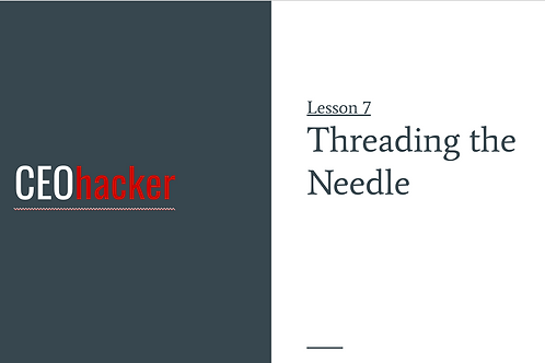 CEOhacker - Lesson 7 - Timing is everything