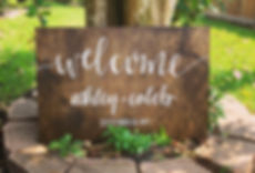 Wooden wedding sign, wedding calligraphy sign