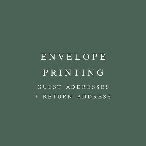 Envelope Printing Guest + Return Address
