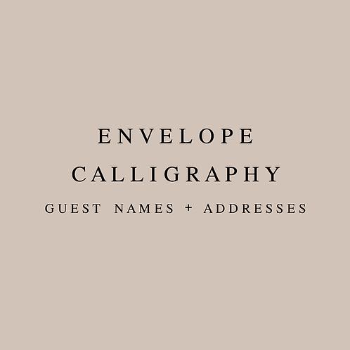 Envelope Calligraphy Guest Names & Addresses