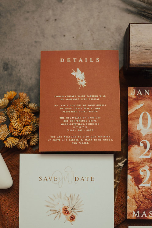The Sunkissed Details Card