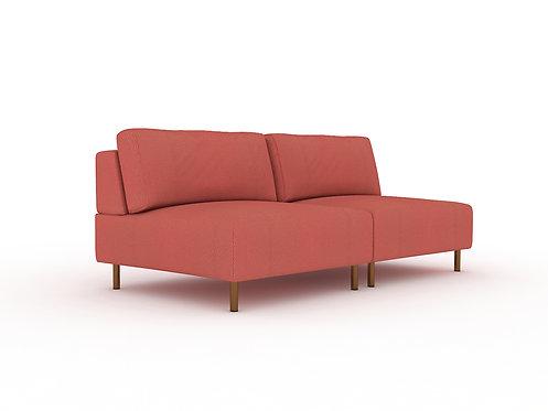 Luc 2-seater modular sofa