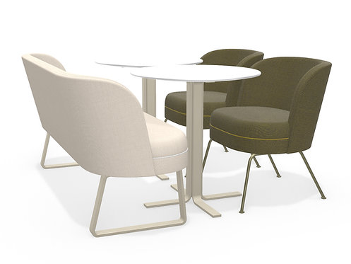 Jacqui dining bench S