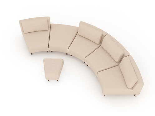 Ann 5-seater sofa with footstool B