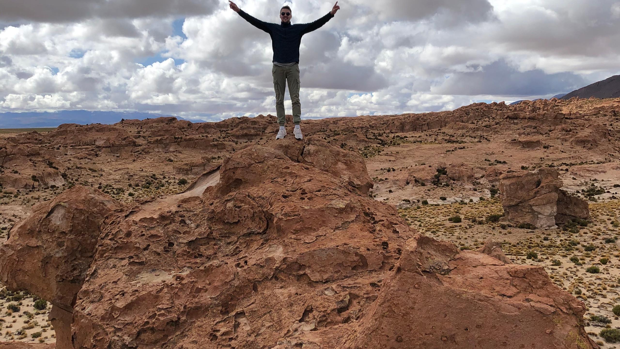 Wüsten Landschaft auf 4200 Metern