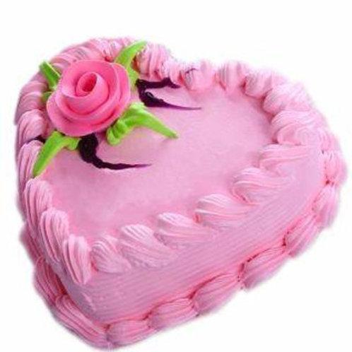 "6"" Single Layer Heart Shaped Cake"