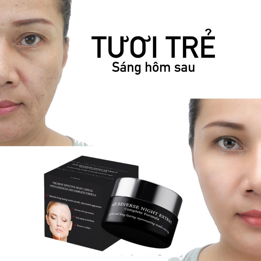 căng da mặt, trẻ hoá da dạng viên thoa hiệu quả ban đêm