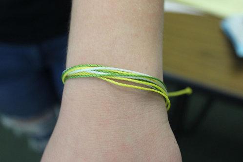 Green, Gold, and White Pura Vida Bracelet