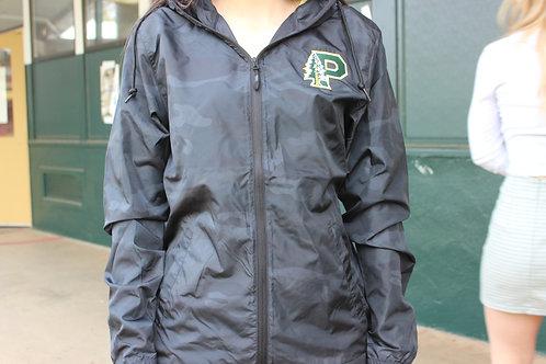 Camo Windbreaker Jacket With Hood