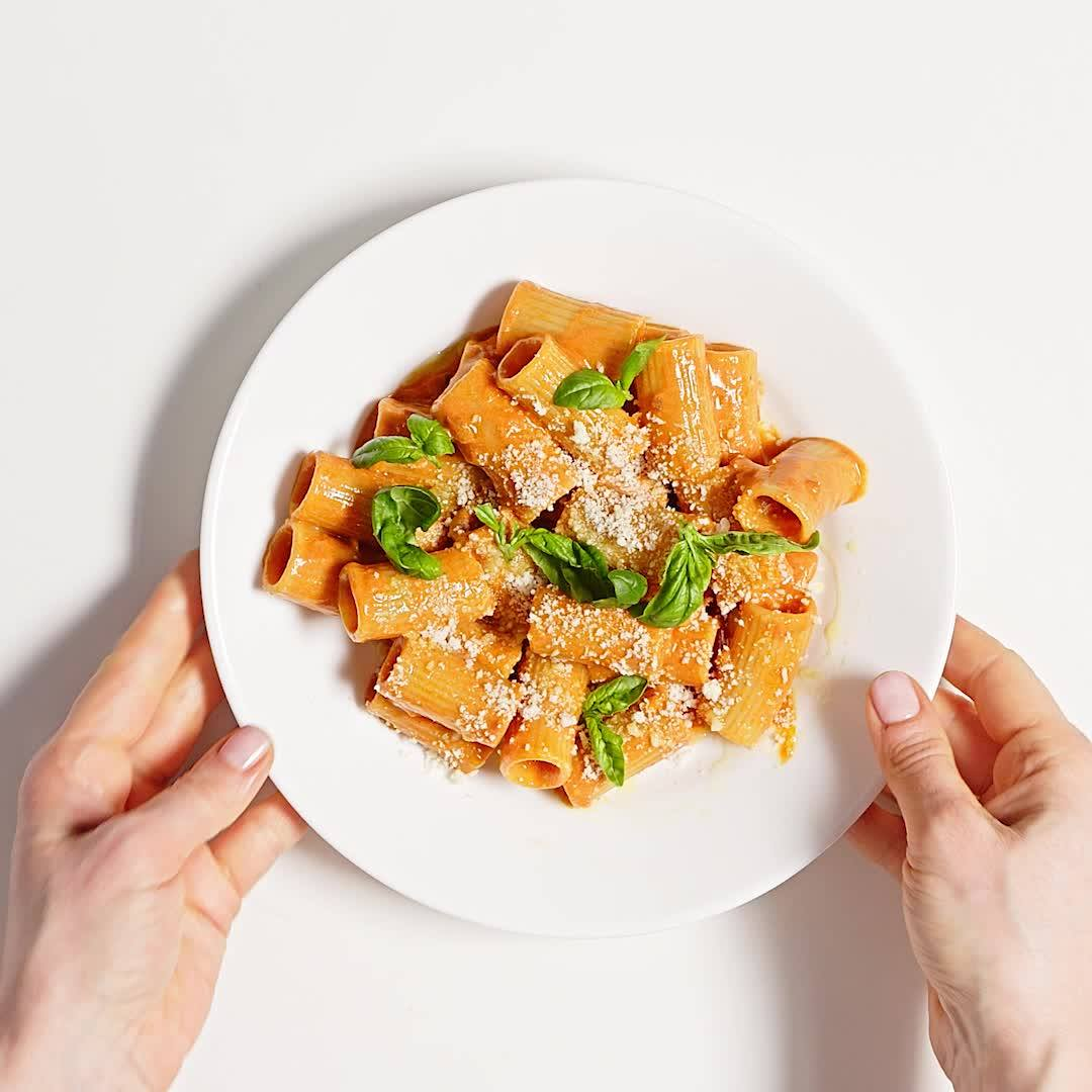 Basically Rigatoni with Easy Vodka Sauce