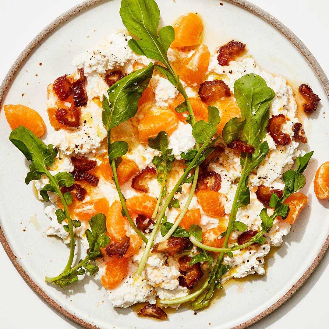 Basically Ricotta and Clementines with Date Vinaigrette