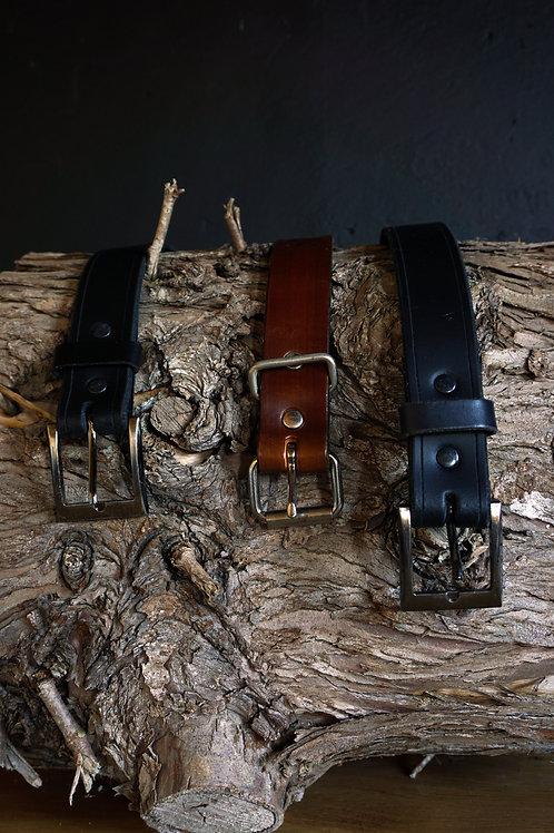 Black Handmade Leather Belt