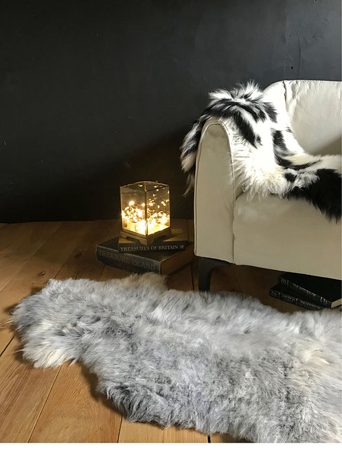Grey Rare Breed Sheepskin Rug