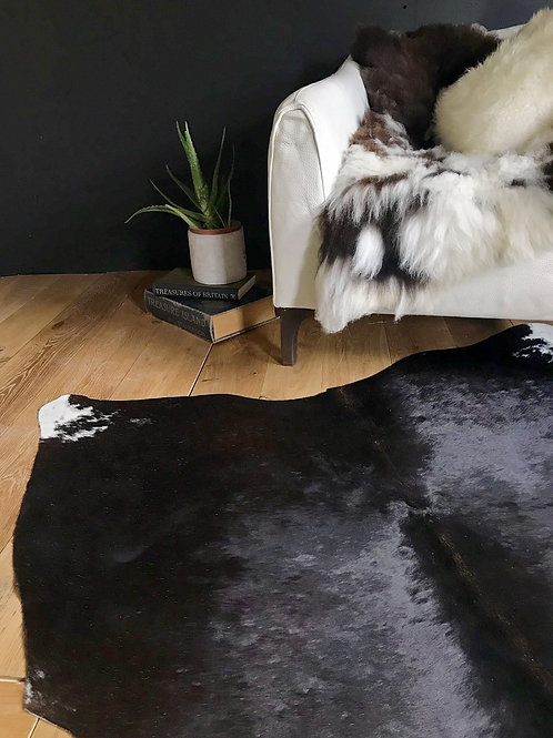 Black and White Cow Hide Rug