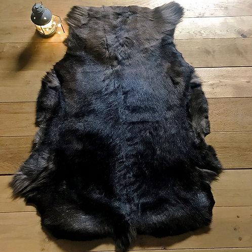 Dark Coloured Reindeer Rug