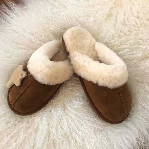 Ladies Sheepskin Mules