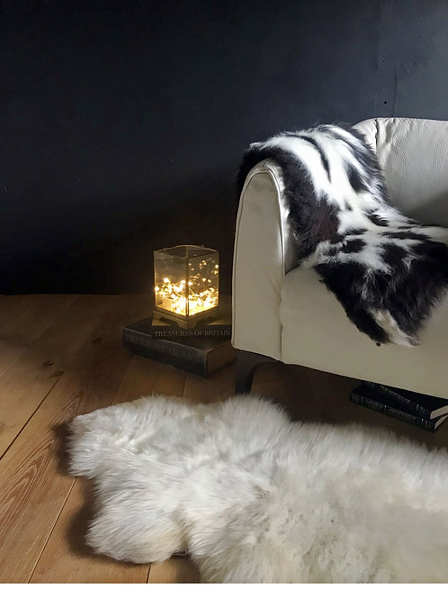 White Rare Breed Hill Sheepskin Rug