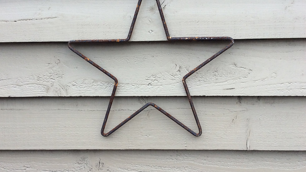 Small rusty star.