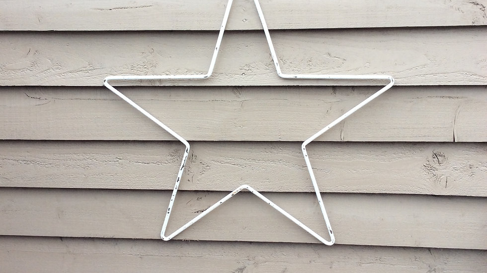 Large Rustic painted star.