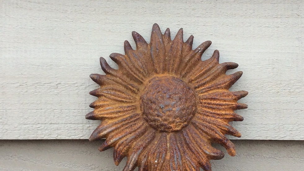 Pair of Metal sunflowers.