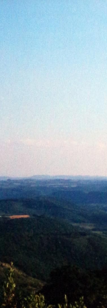 Vista dos caminho para assentamento em Abelardo Luz