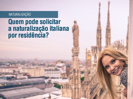 Cidadania Italiana por Residência