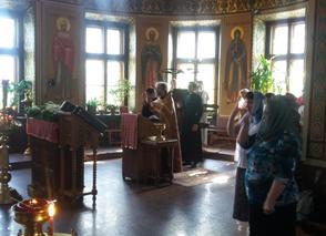Молебен об учащихся