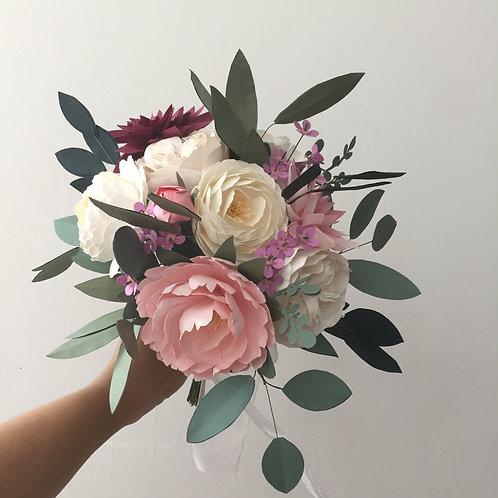 Peony & Dahlia Bridal Bouquet