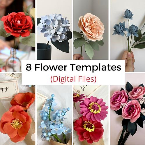 [DIGITAL FILE] 8 Flowers Template