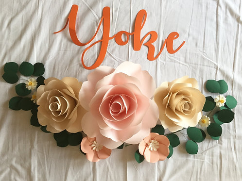Flowers with Garlands