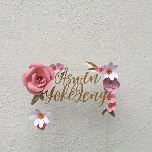 Your Name Cake Topper