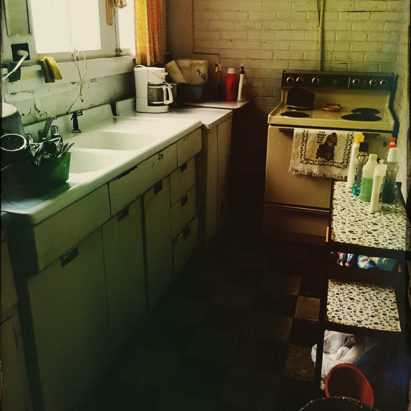 The kitchen, after my clean-up